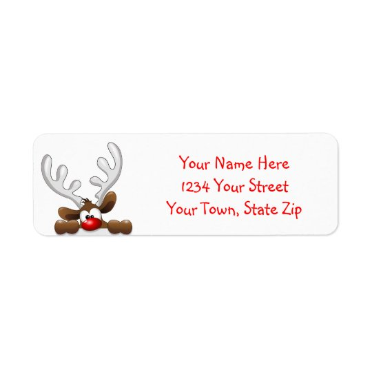 Christmas Reindeer Address Labels