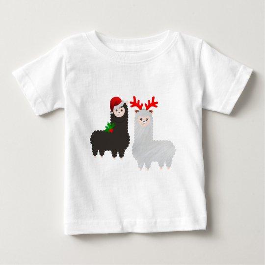christmas reindeer alpacas baby T-Shirt