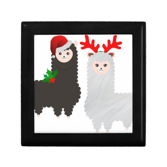 christmas reindeer alpacas gift box