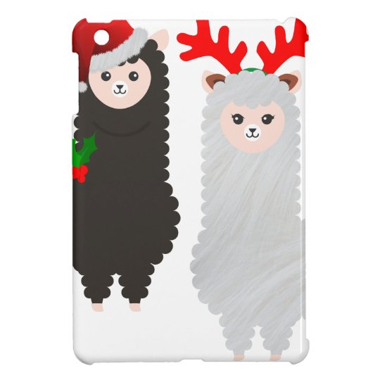 christmas reindeer alpacas iPad mini cover