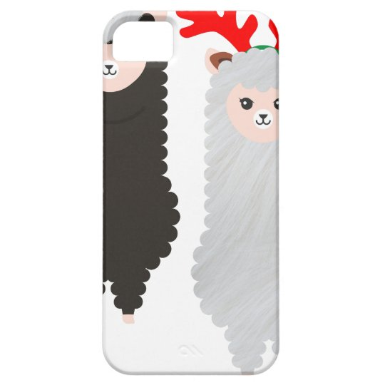christmas reindeer alpacas iPhone 5 cover