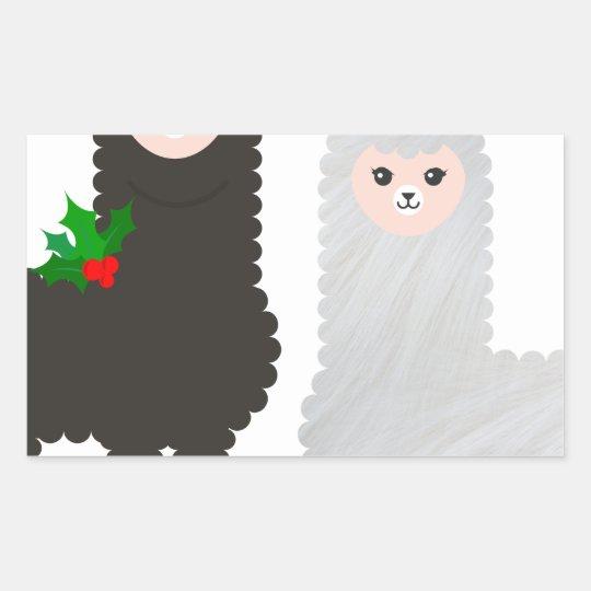 christmas reindeer alpacas sticker