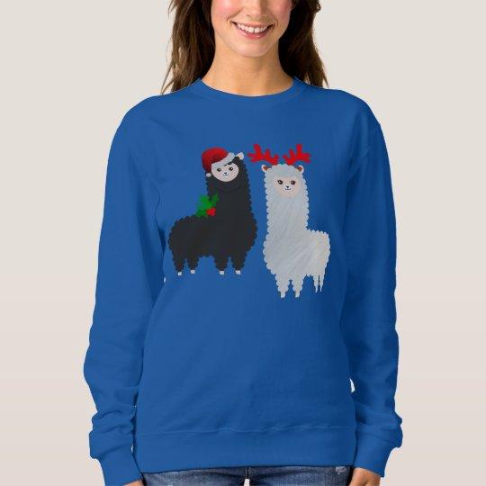 christmas reindeer alpacas sweatshirt