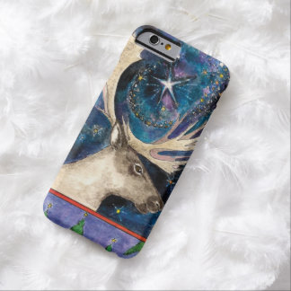 Christmas Reindeer at Night with a Shining Star Barely There iPhone 6 Case