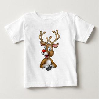 Christmas Reindeer Cartoon Baby T-Shirt