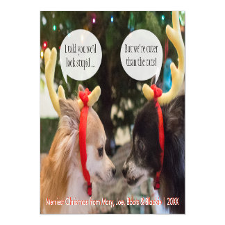 Christmas Reindeer Dogs ... If Dogs Could Talk Magnetic Card