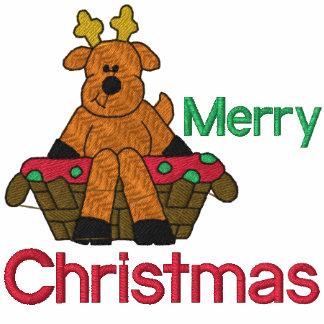 Christmas Reindeer Embroidered Shirt