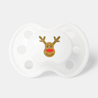 Christmas Reindeer Face Pacifier