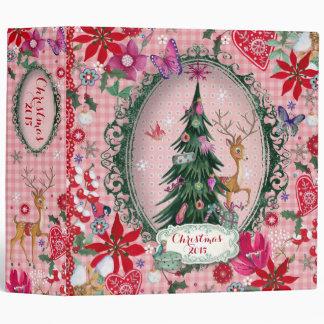 """Christmas Reindeer Flowers - 2"""" Binder"""