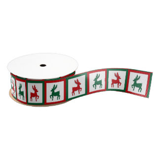 Christmas Reindeer Grosgrain Ribbon