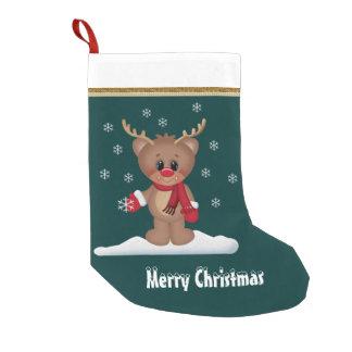 Christmas Reindeer Holiday cartoon stocking