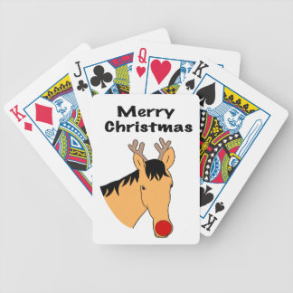 Christmas reindeer horse bicycle playing cards
