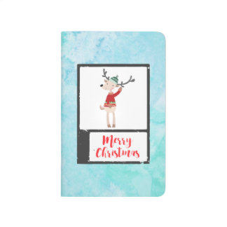Christmas Reindeer In An Ugly Sweater Whimsical Journals