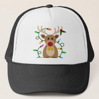 Christmas Reindeer in Lights Trucker Hat