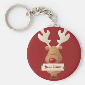 Christmas reindeer Keychain