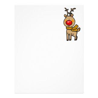 Christmas reindeer letterhead design