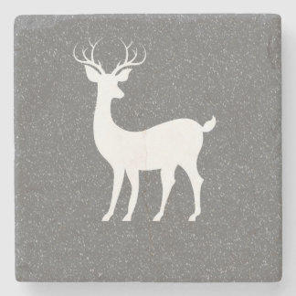 Christmas Reindeer Marble Stone Coaster