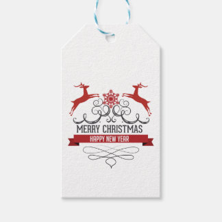Christmas Reindeer Merry Christmas New Year Tags