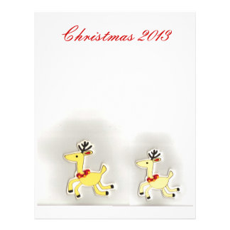 Christmas Reindeer Mom and Baby Scrapbook Personalized Letterhead