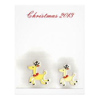 Christmas Reindeer Mom and Baby Scrapbook Letterhead Design