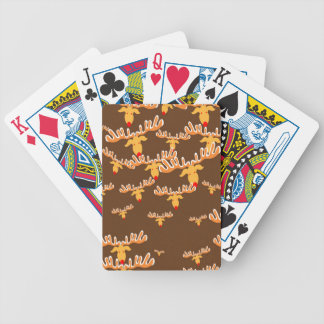 Christmas reindeer pattern bicycle playing cards
