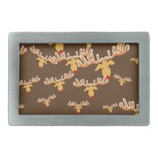 Christmas reindeer pattern rectangular belt buckle