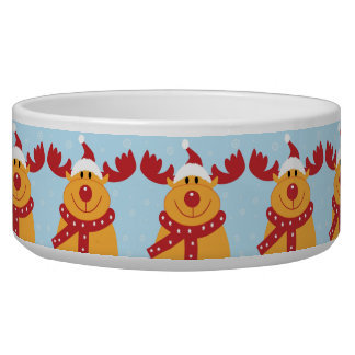 Christmas Reindeer Pet Bowl