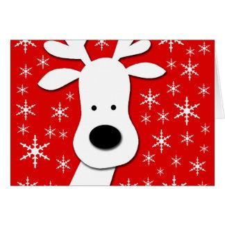 Christmas reindeer  - red card