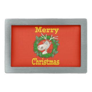 Christmas Reindeer reef. Belt Buckle