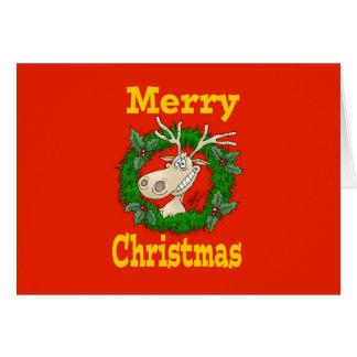 Christmas Reindeer reef. Card