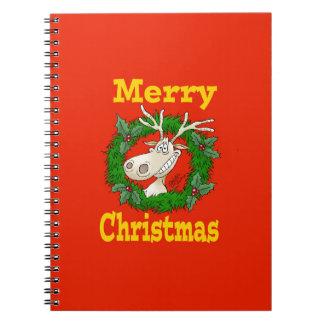 Christmas Reindeer reef. Notebooks