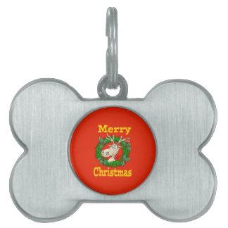 Christmas Reindeer reef. Pet Tag