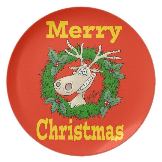 Christmas Reindeer reef. Plate