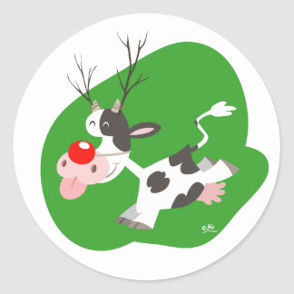 Christmas reindeer sticker