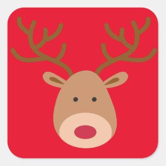 Christmas Reindeer Stickers - Sheet of 20
