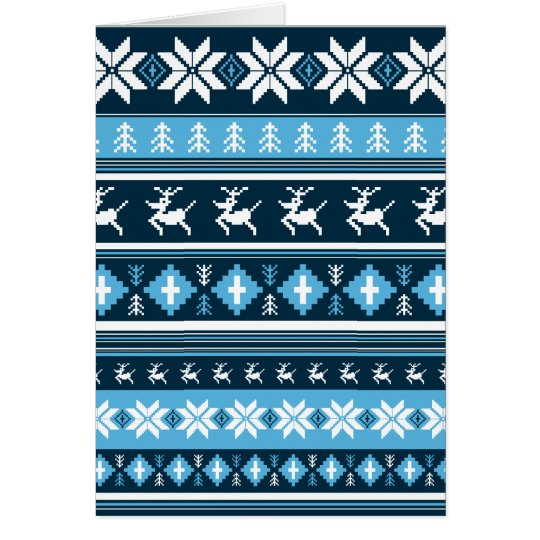 Christmas Reindeer Stripe Card