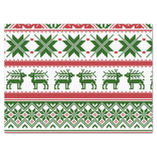 Christmas reindeer ugly sweater tissue paper