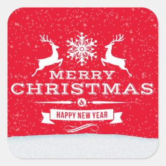 Christmas reindeer word art sticker