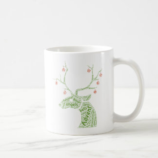 Christmas Reindeer Wordart Gift Mug