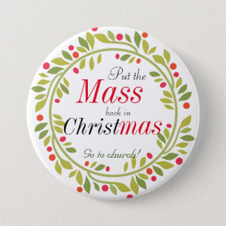Christmas Religious Go to church Button