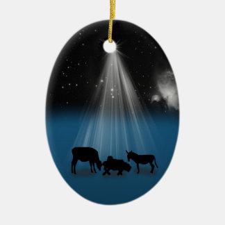 Christmas, Religious, Nativity, Stars, Ornament