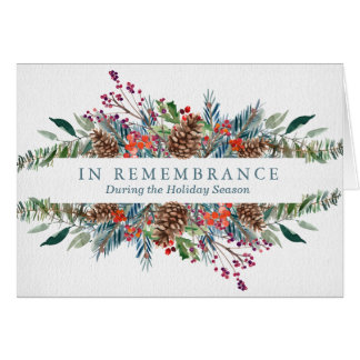 Christmas Remembrance Card   Christmas Wreath