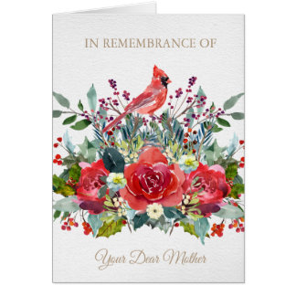 Christmas Remembrance Card   Dear Mother
