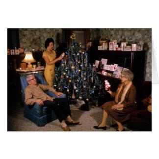 Christmas, Retro Family Humor Holiday Mom Pop Card
