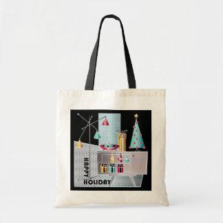 Christmas Retro Tree Tote Bag