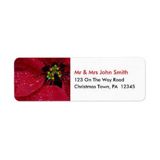 Christmas Return Address Labels
