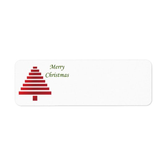 Christmas Return Address Labels - Customizable