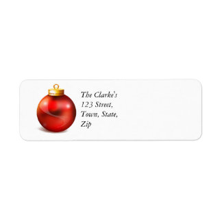 Christmas Return Address Labels Ornament
