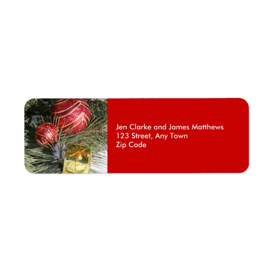Christmas Return Address Labels Ornament Tree