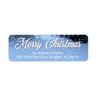 Christmas Return Address Labels Snowy Day
